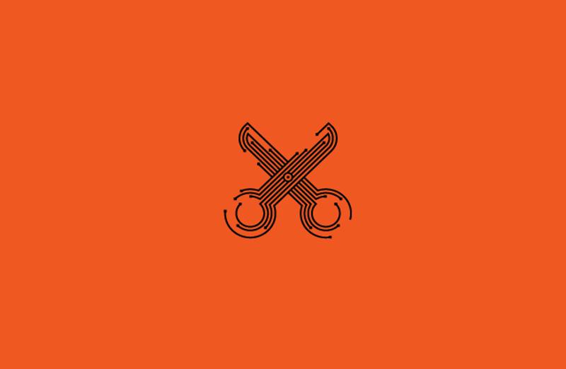 electric scissors logo