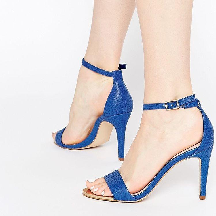 blue high heels design