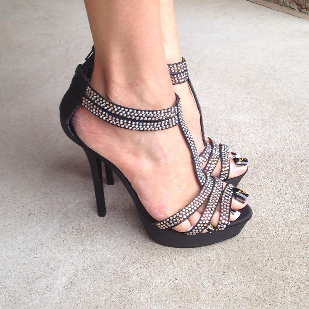 attractive black high heels