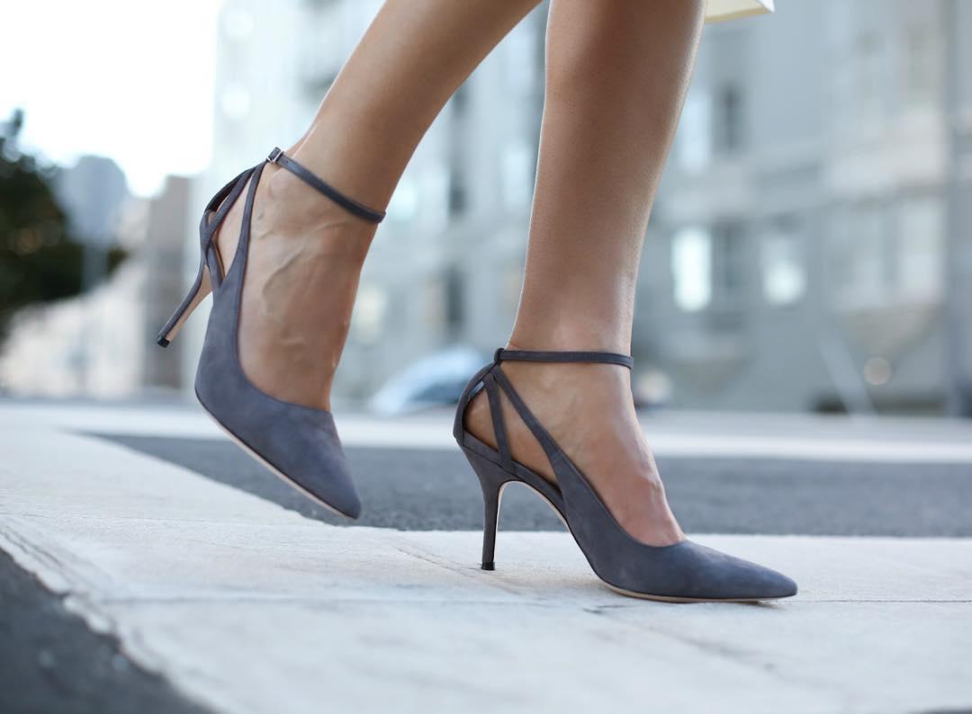 grey suede shoes