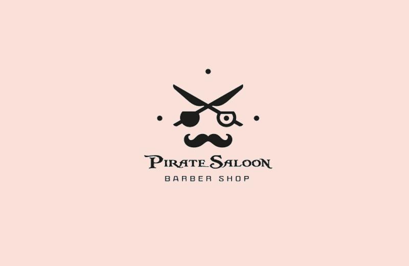 pirate style scissor logo