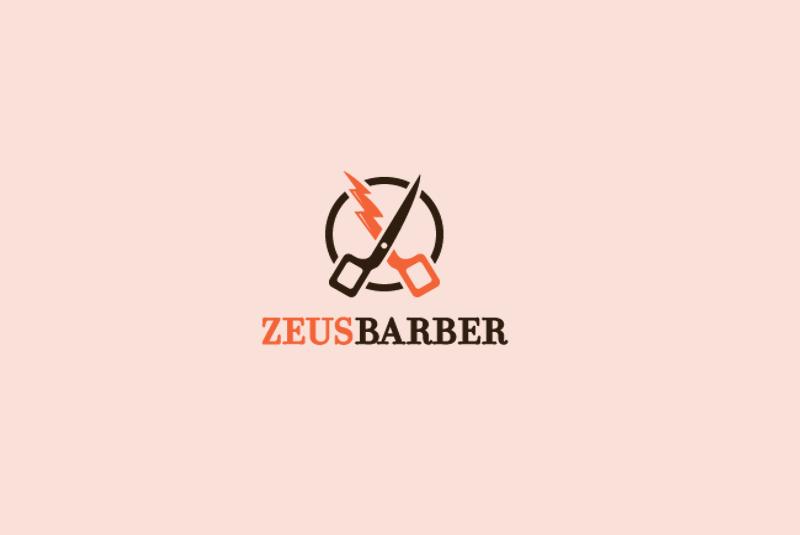 lightning scissor logo