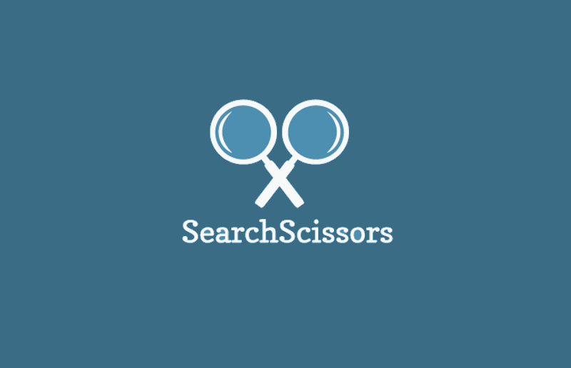 search scissors logo design
