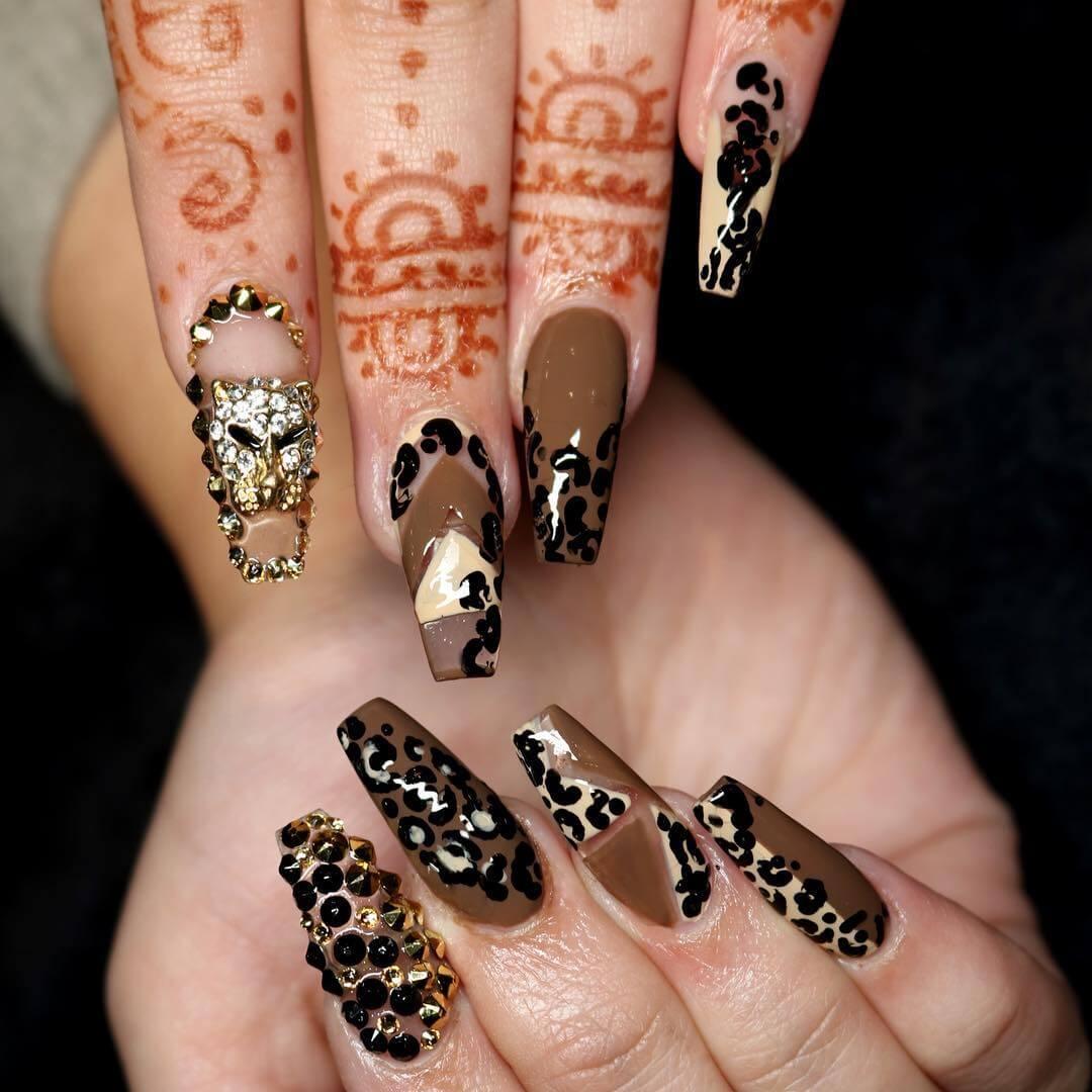 Animal print nail designs graham reid european nails most popular nail design 2017 nail art designs nail art design animal print european prinsesfo Image collections