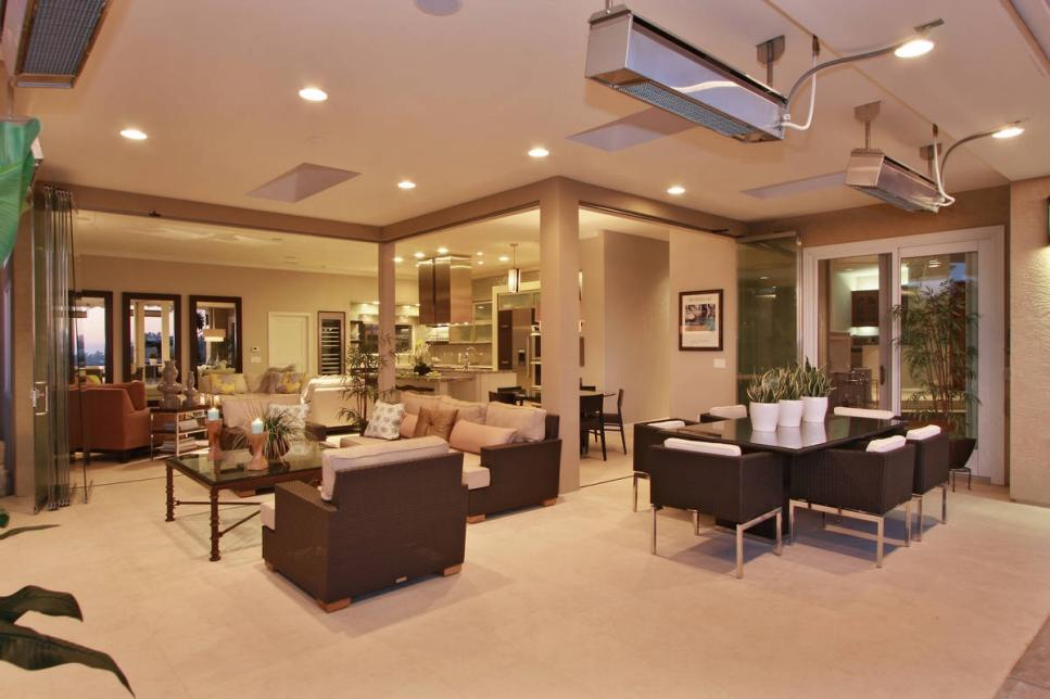 Contemporary style with dark brown furnishings
