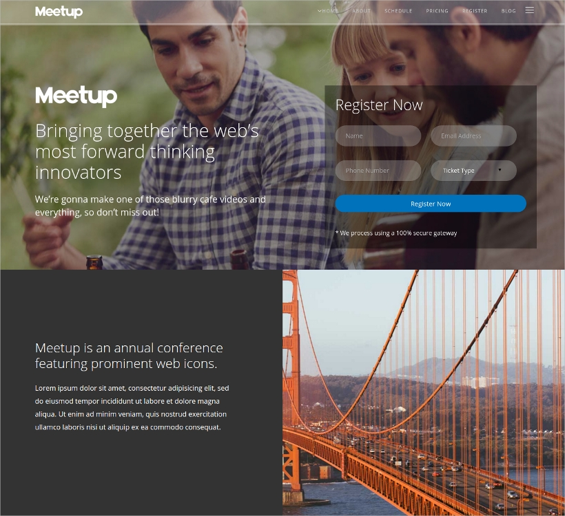 conference event wordpress bootstrap theme