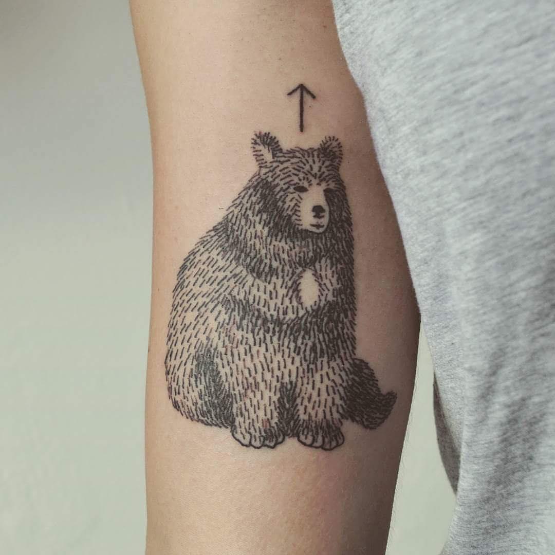 Vintage Bear Tattoo Art