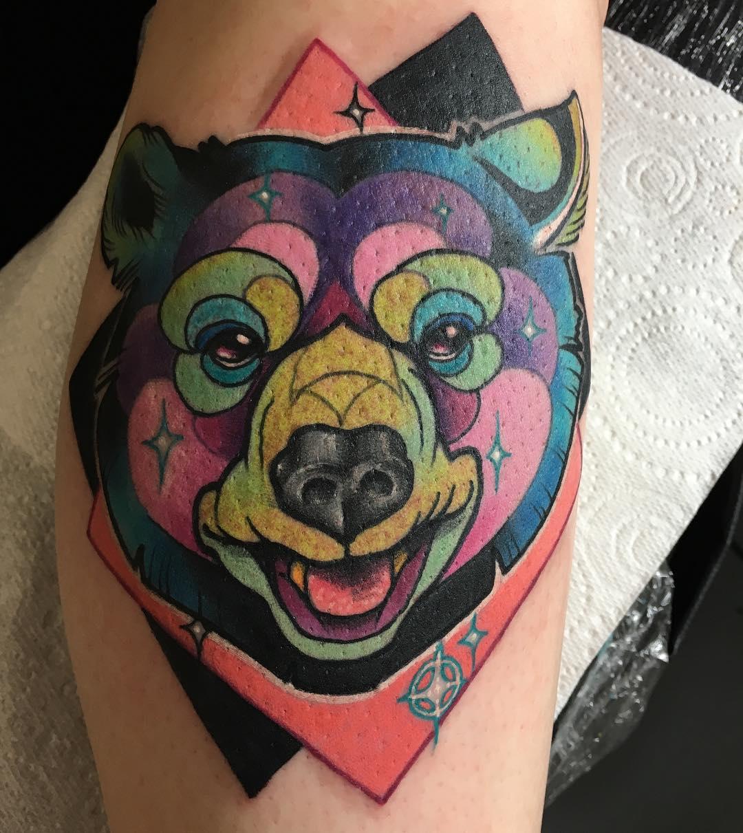 Latest Trendy Bear Tattoo Art