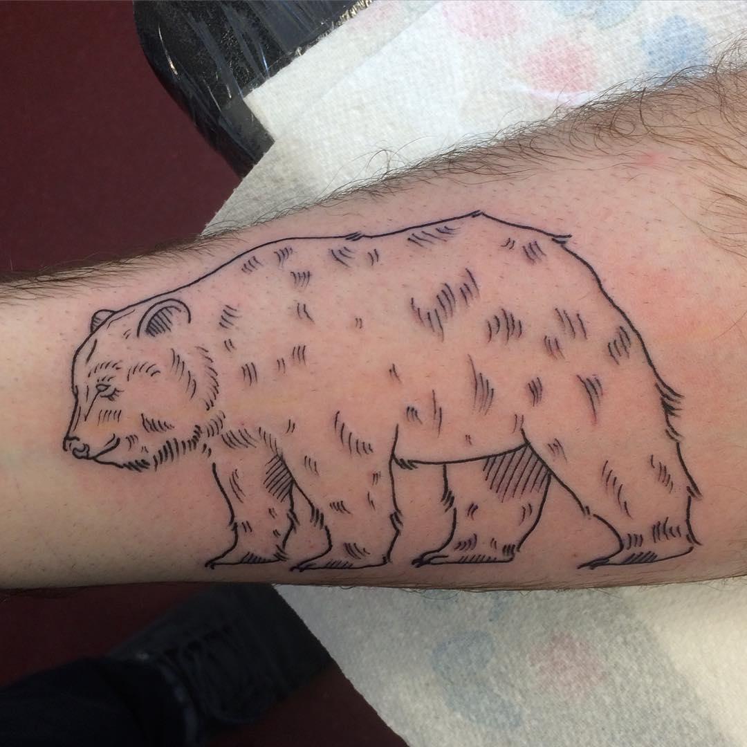 Classic Bear Tattoo Looks Elegant