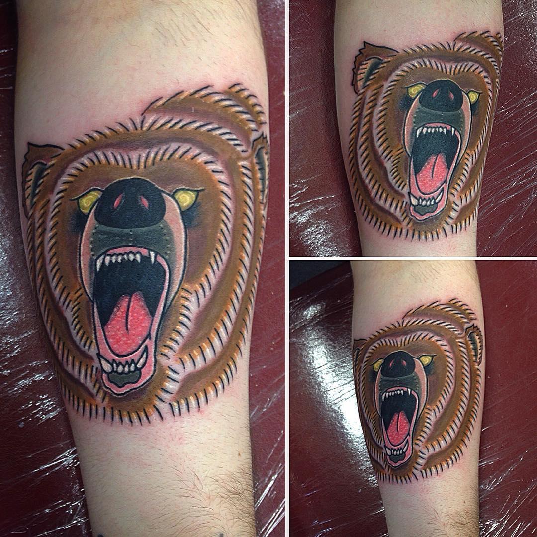 Brown Bear Tattoo Design