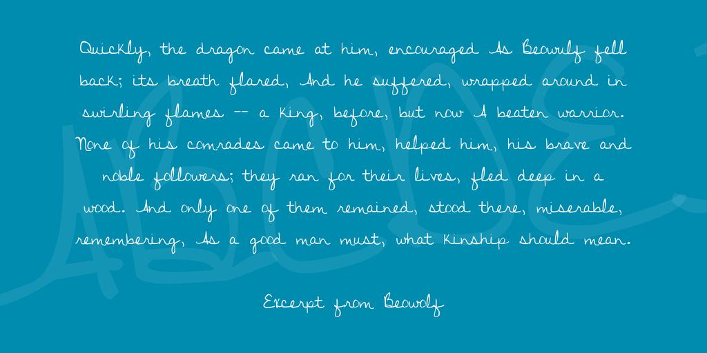 elegant hadwriting font