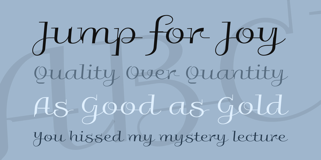 curcive elegant font
