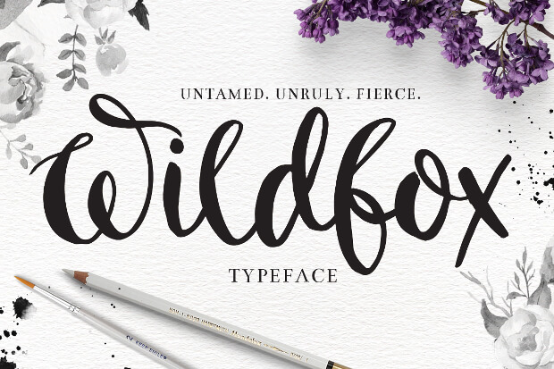 Typography Font for Wedding