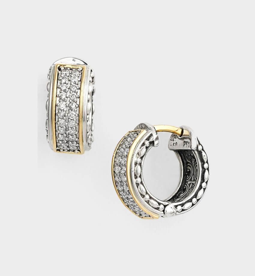 konstantino diamond classics small hoop earrings 2