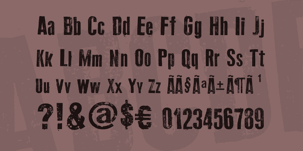 old typhography fonts
