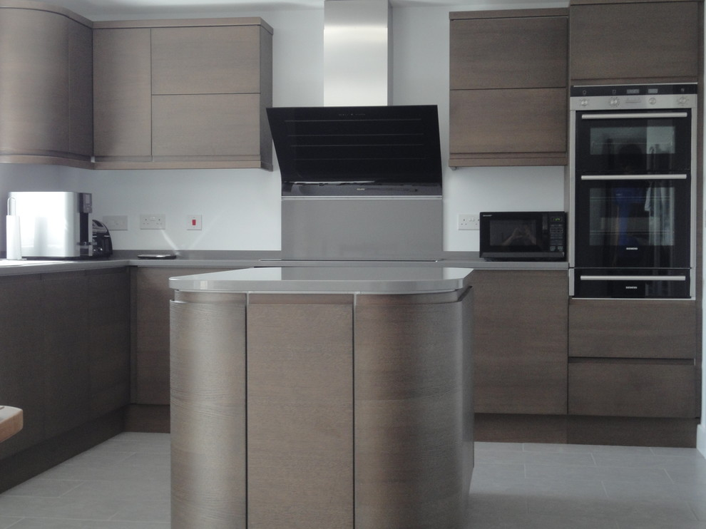 modern german style kitchen with woven