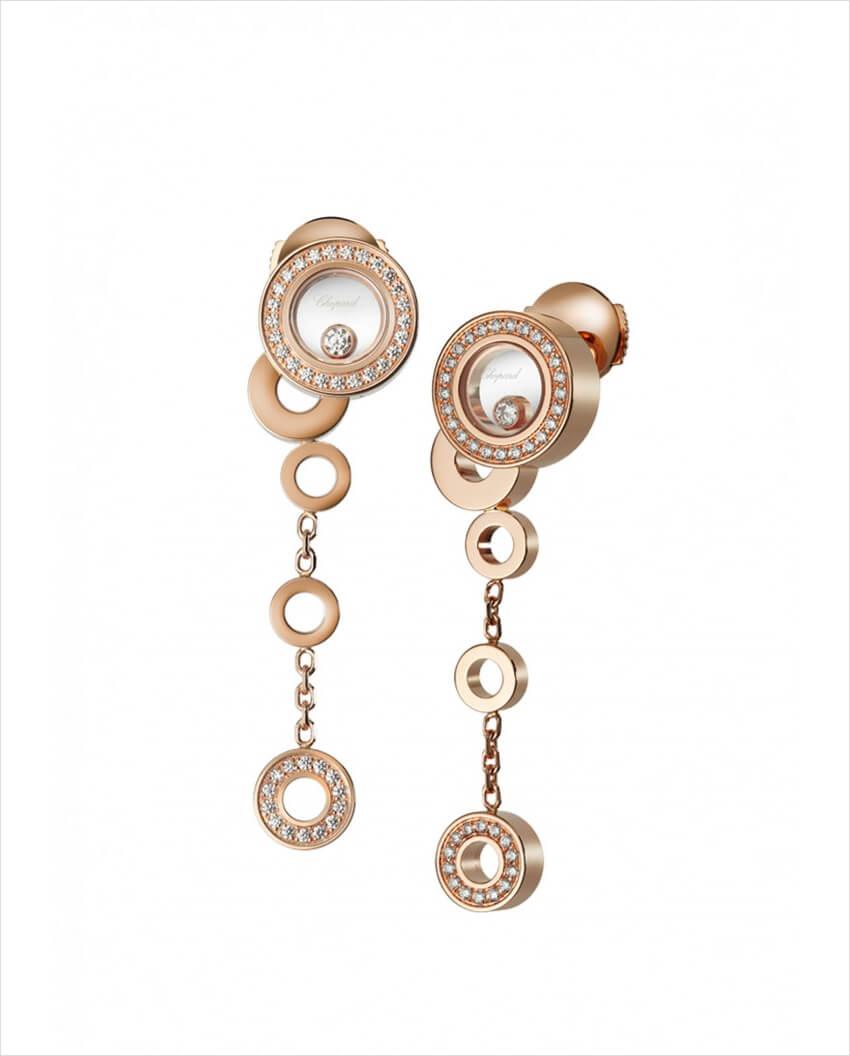 chopard gold and diamond earrings 1