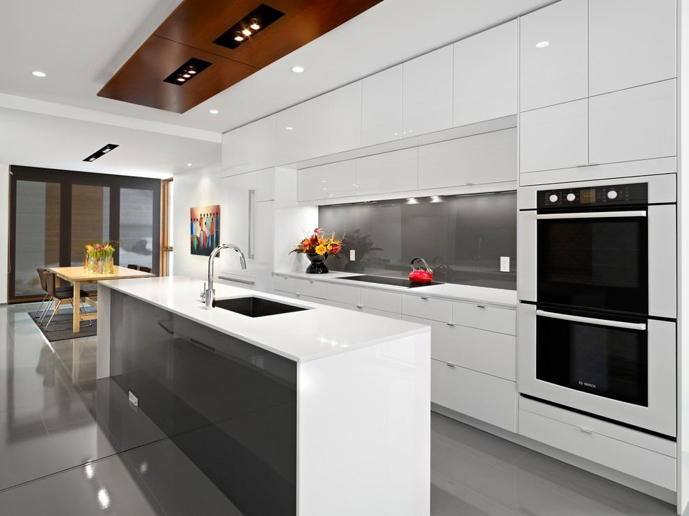 beautiful white german kitchen design