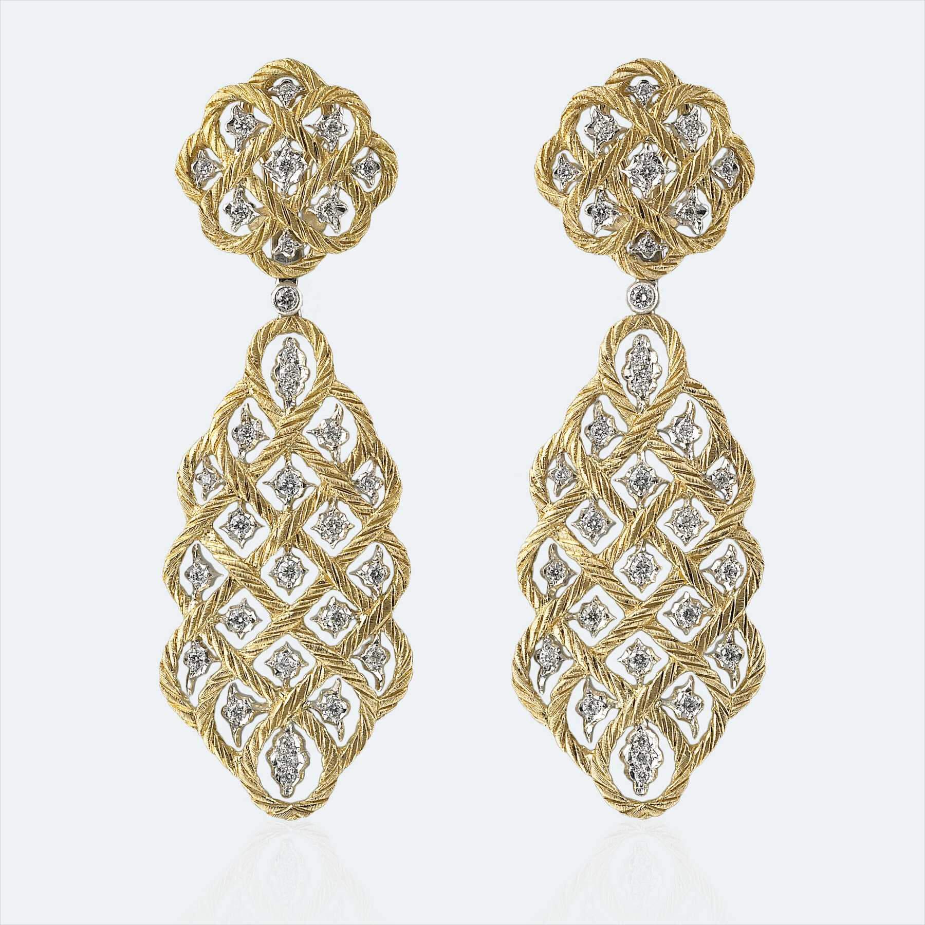 etoilee pendant diamond earrings 1