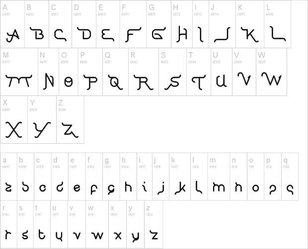 creative typography font
