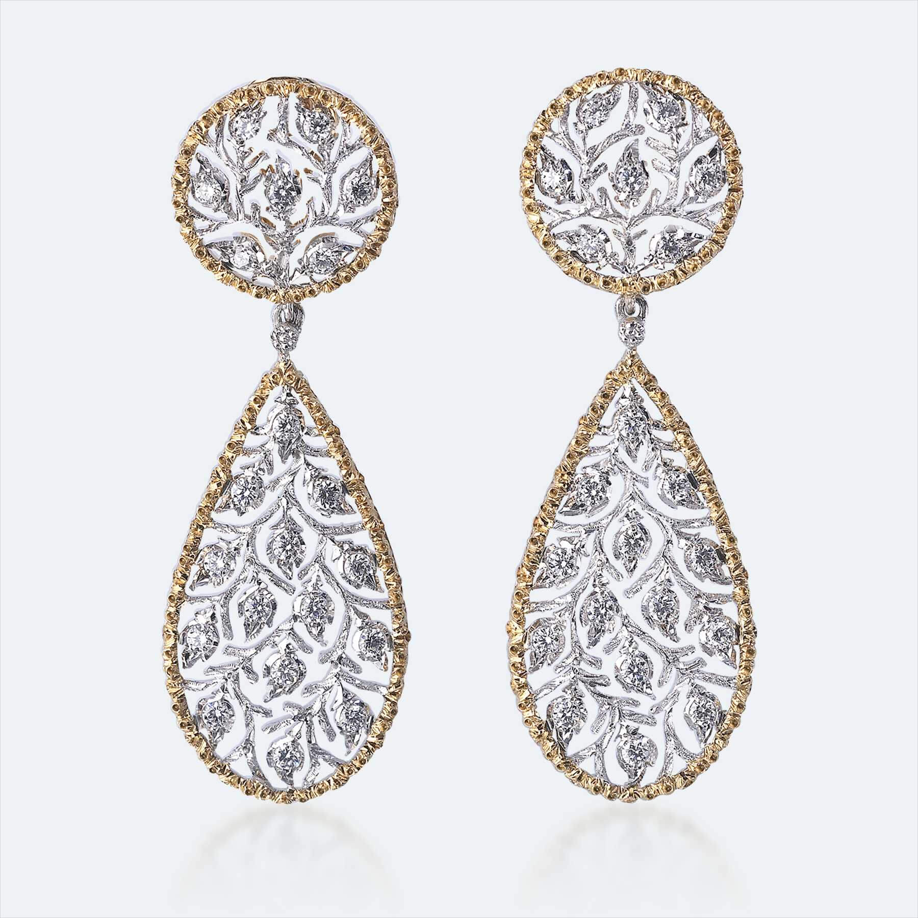 buccellati dimond earrings 1 - Earring Design Ideas