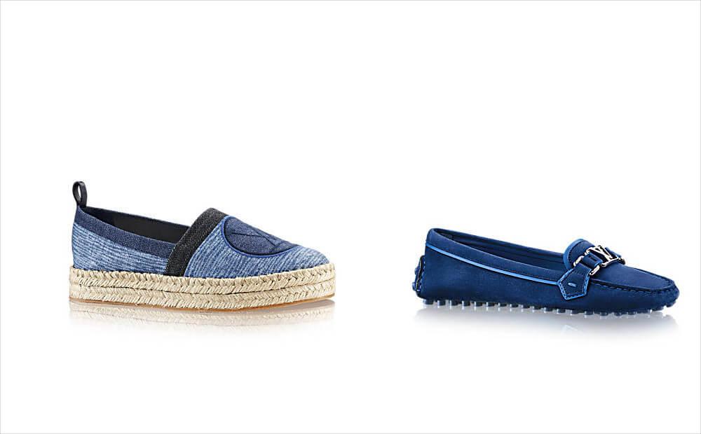 louis vuitton blue color loafers