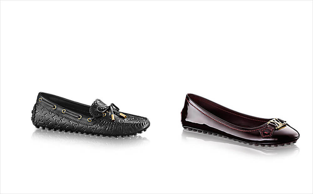 louis vuitton supple and patent calf leather shoes