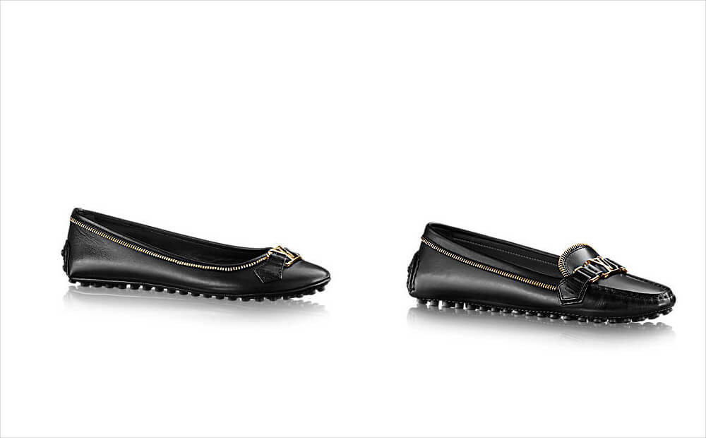 Louis Vuitton Waxed Calf Leather Flat Shoes