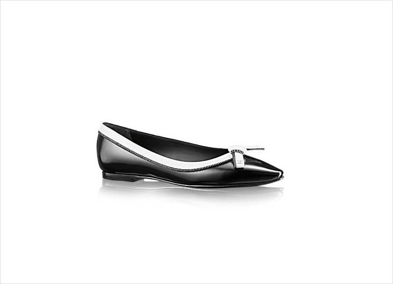 louis vuitton pointed toe glazed calf leather shoe