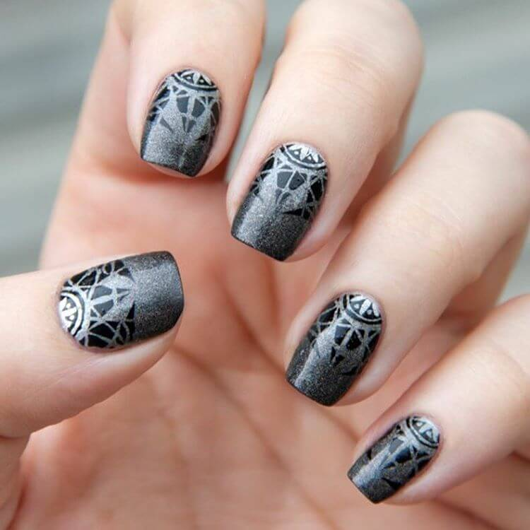 25 Gray Nail Art Designs Ideas Design Trends Premium Psd