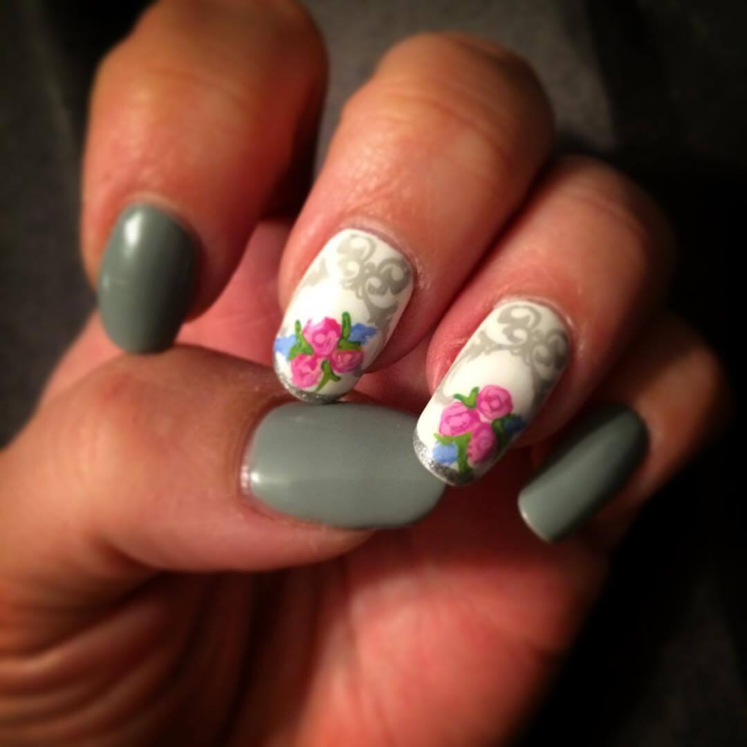 25+ Gray Nail Art Designs, Ideas