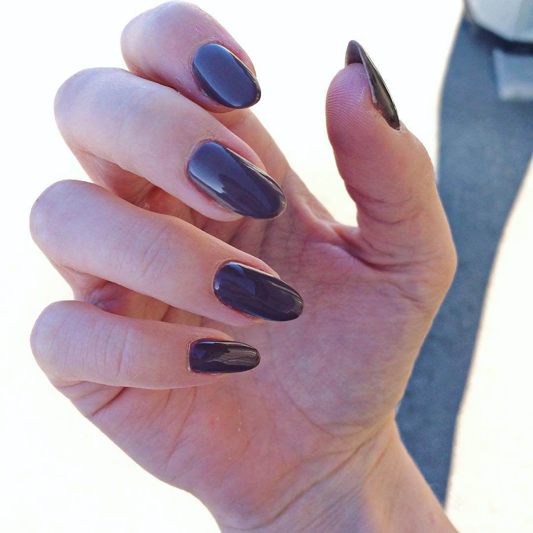 Gray Nail Art Design (1)