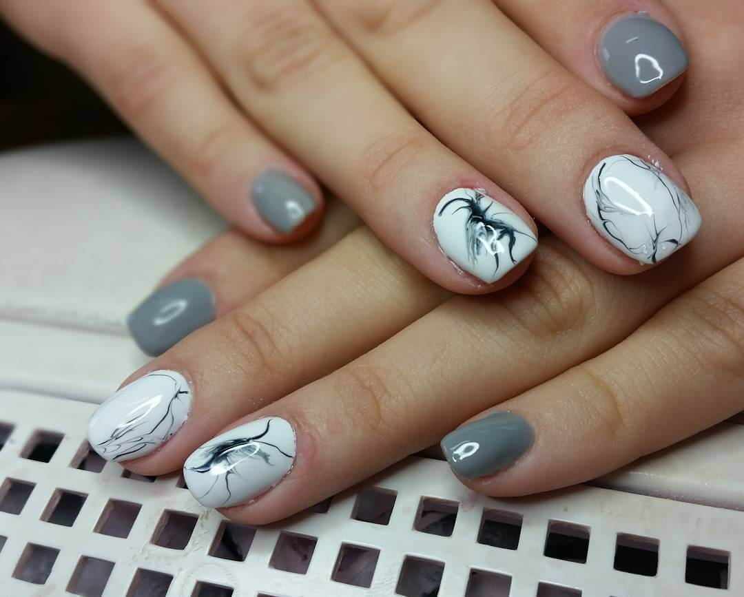 Beautiful Gray Nail Art (1) - 25+ Gray Nail Art Designs, Ideas Design Trends - Premium PSD