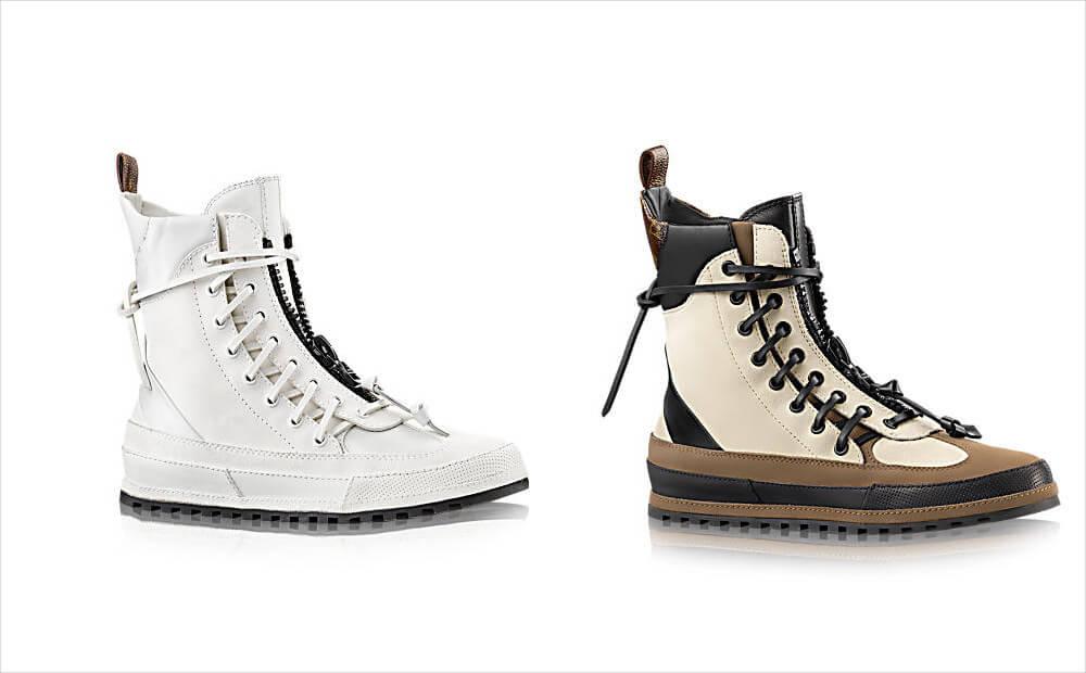 louis vuitton front zip pattern shoes