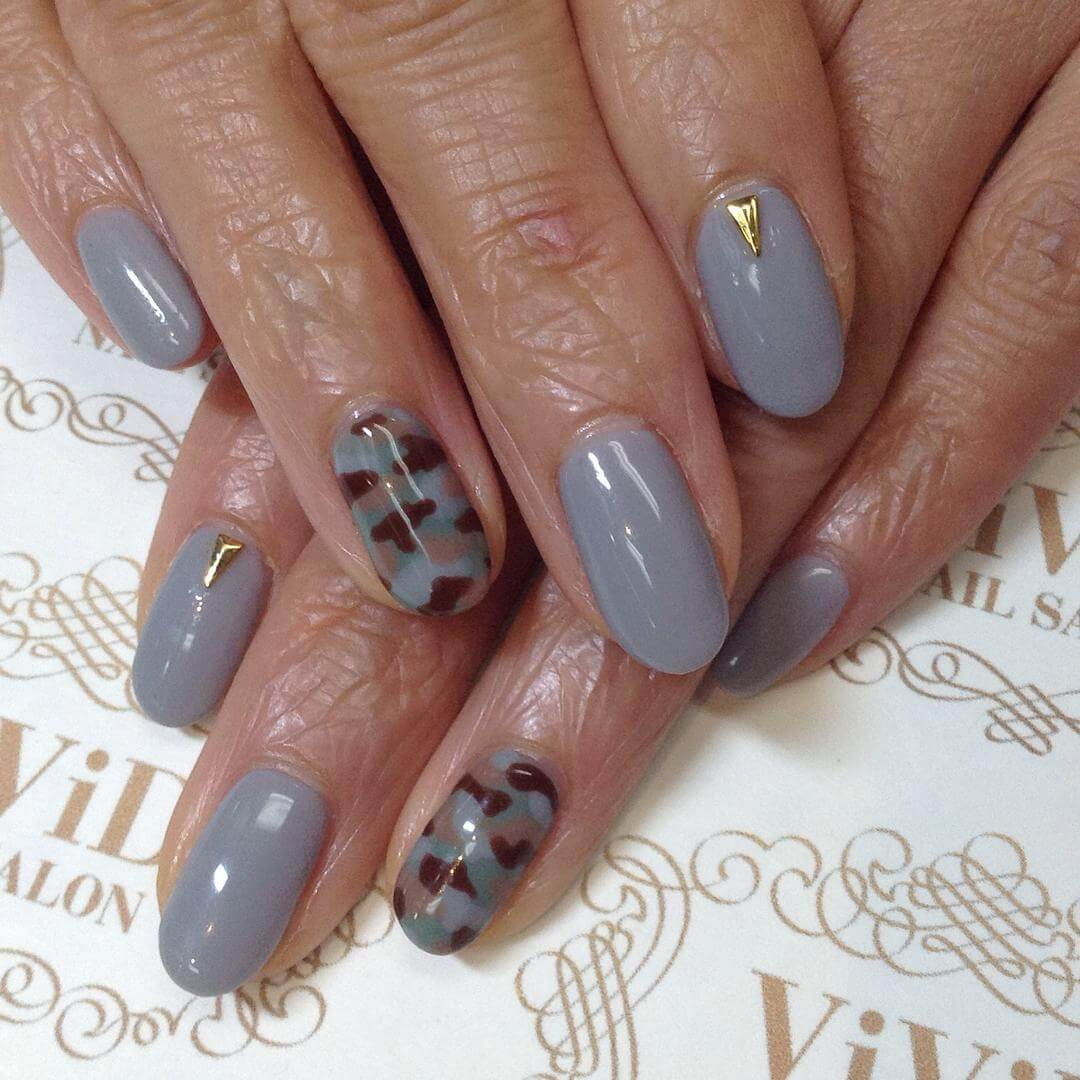 Tip Gray Nail Art (1)