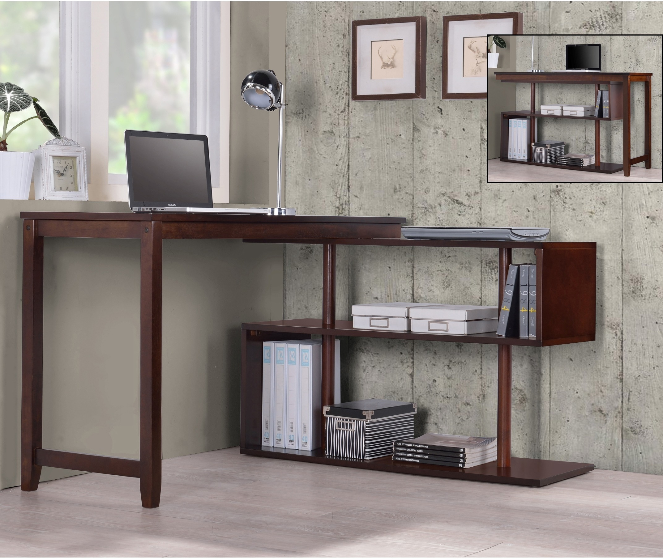 contemporary glass office. Attractive Altra Odin Glass LShaped Desk Contemporary Office L