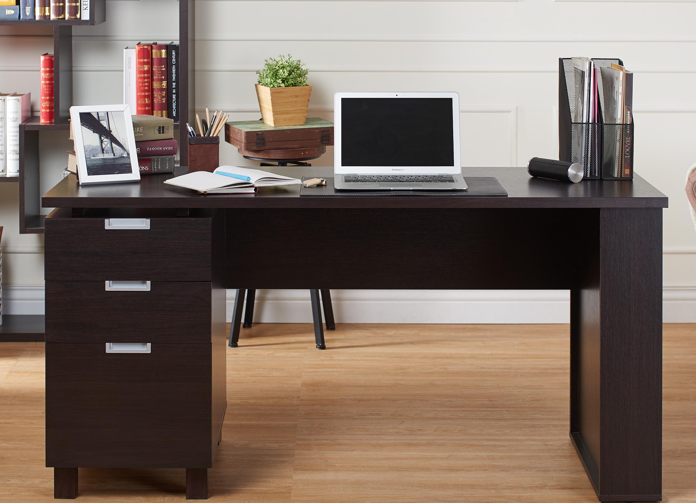Transitional ESpresso Finish Desk