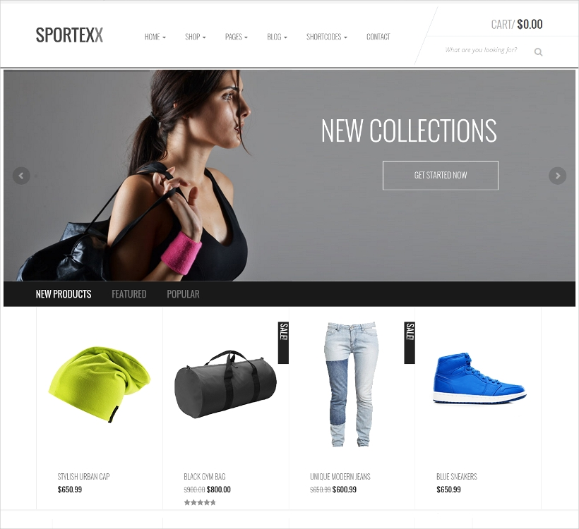 sports gym fashion woocommerce theme