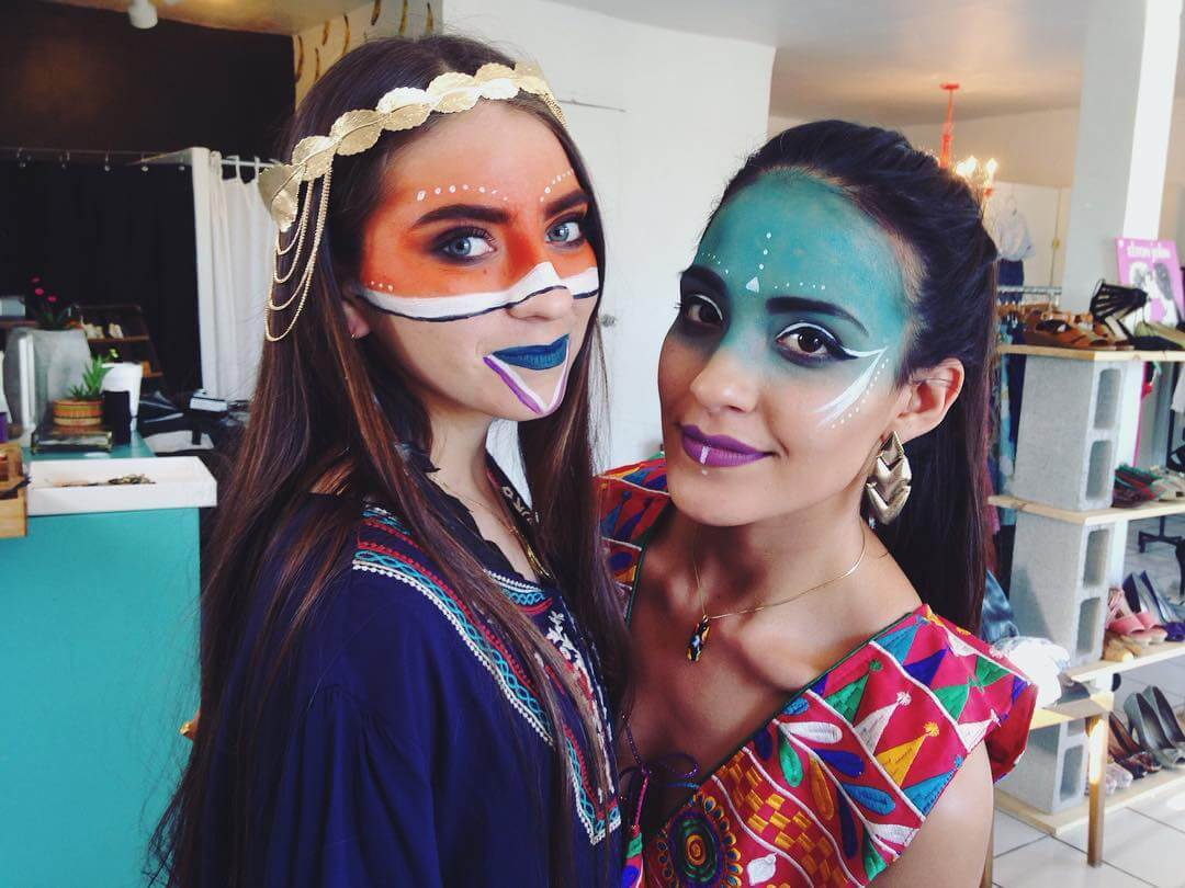 Two Girls Makeup In Tribal.