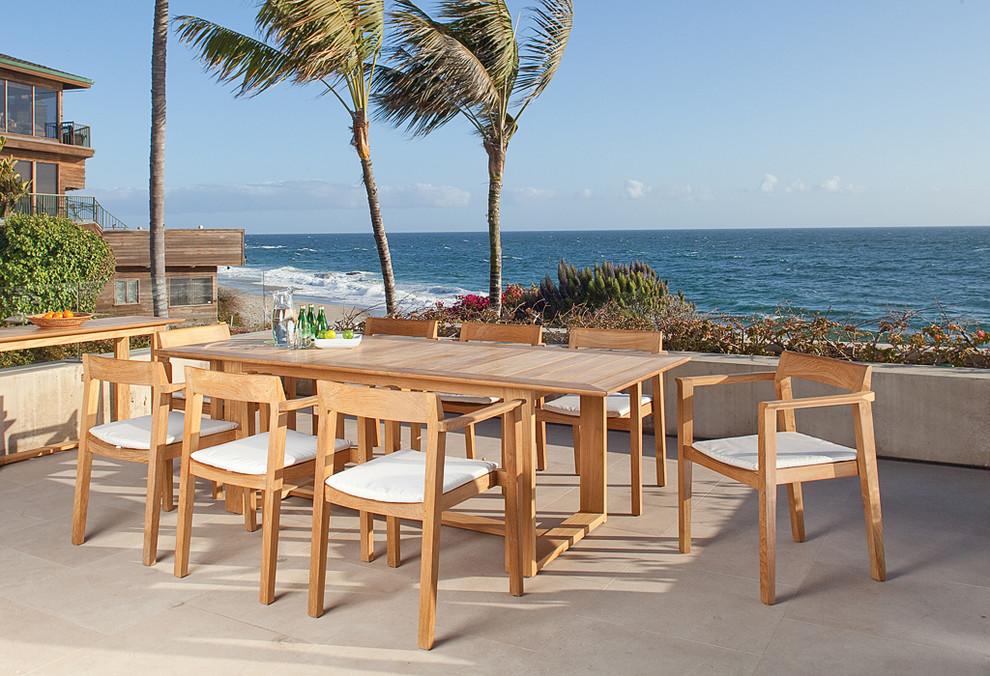 contemporary patio teak dining set