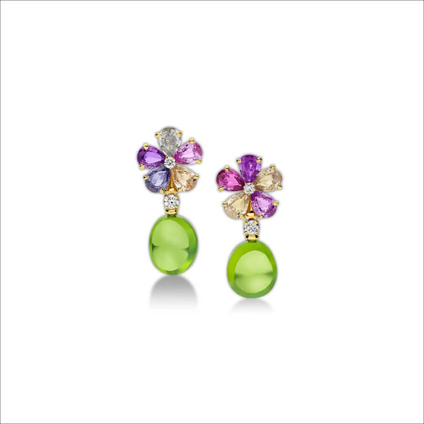 BVLGARI - Sapphire Flower Earrings (1)