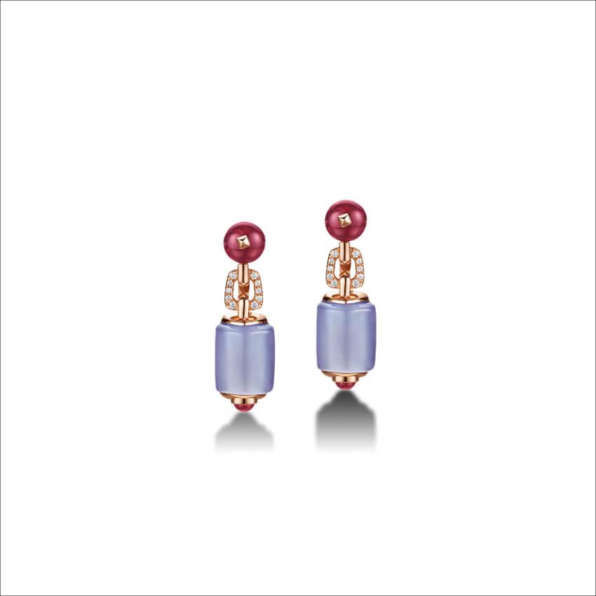 BVLGARI - MVSA Earrings Pink Gold (1)
