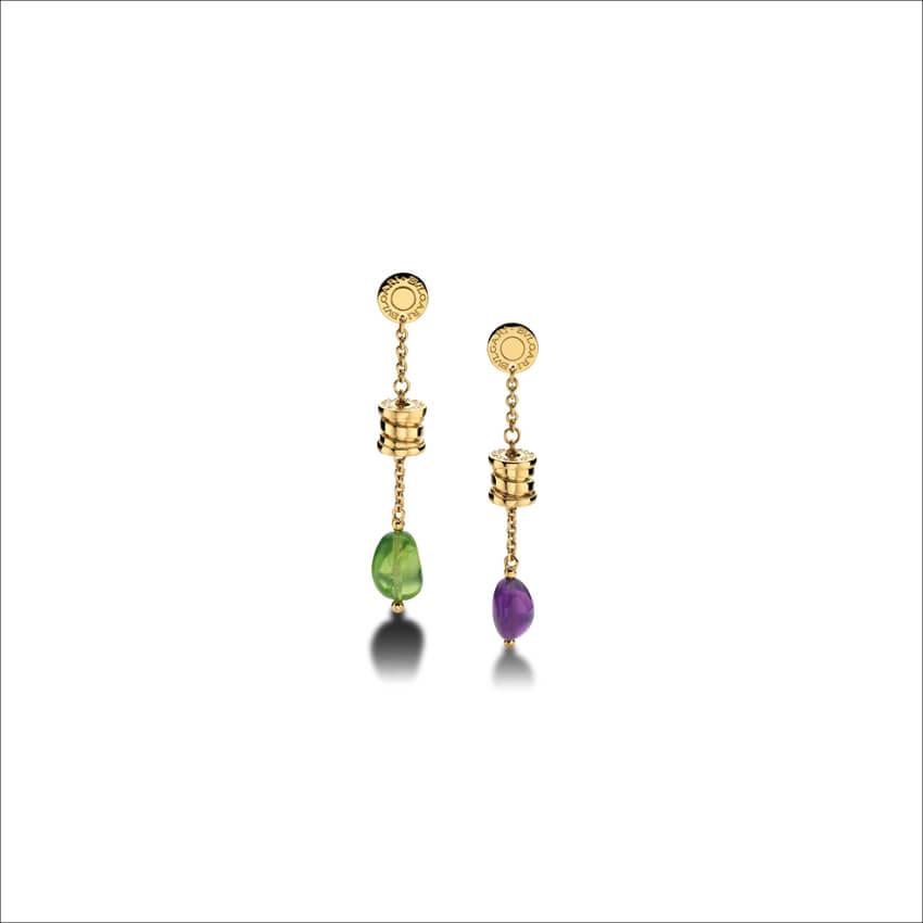 BVLGARI - Yellow Gold Pendant Earrings (1)