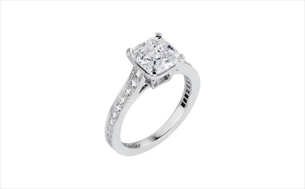 Cartier Princess Cut Diamond Ring
