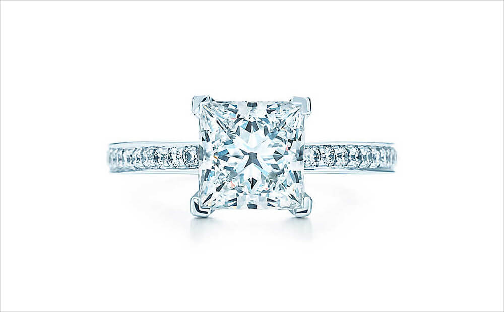 Tiffany Vintage Princess Cut Engagement Ring