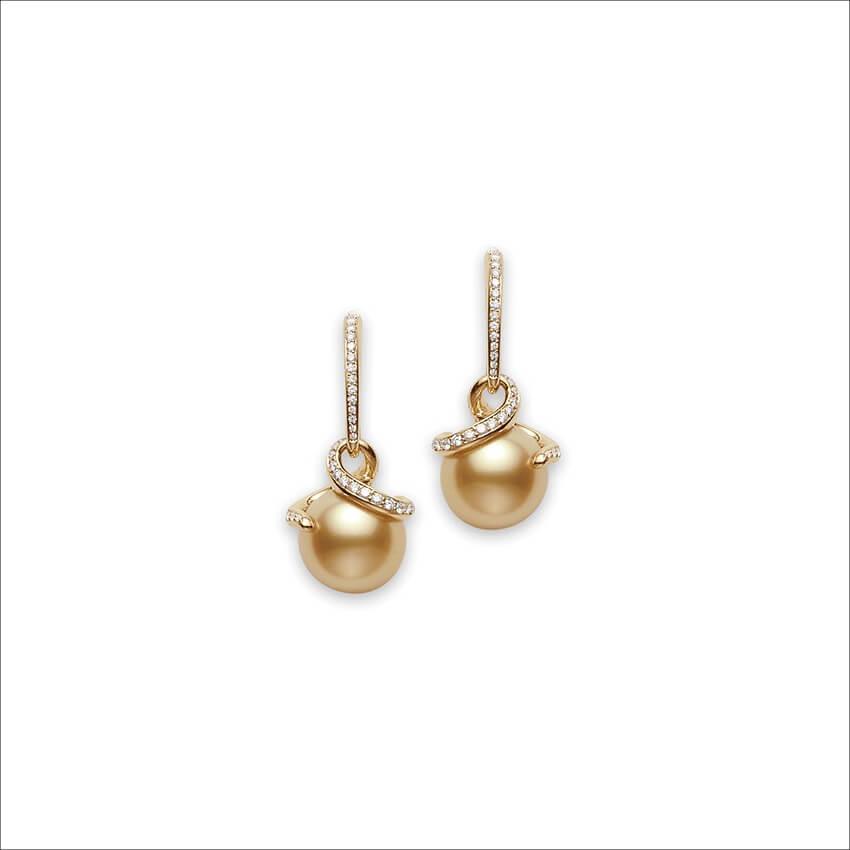 MIKIMOTO - Twist Golden South Sea Earrings (1)
