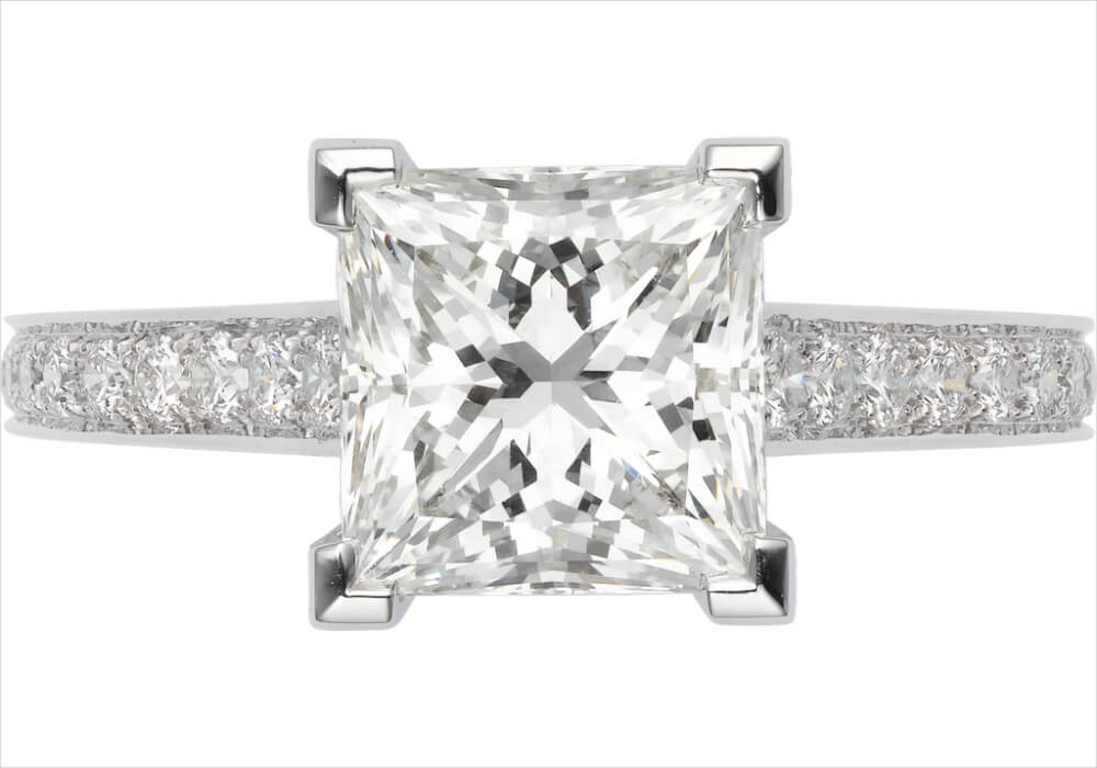Cartier Princess Cut Wedding Ring