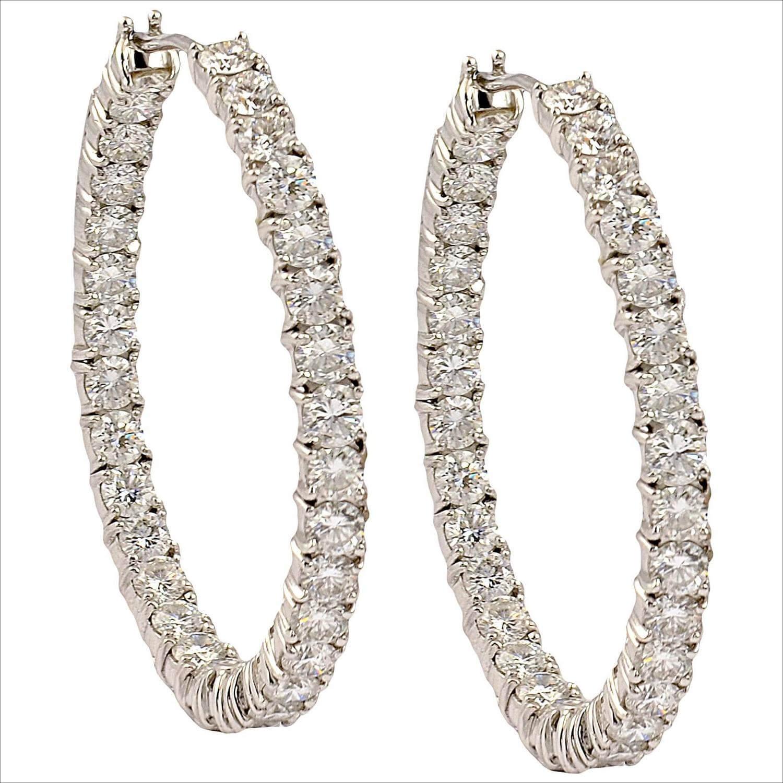 Graff Diamond Gold Hoop Earrings (1)