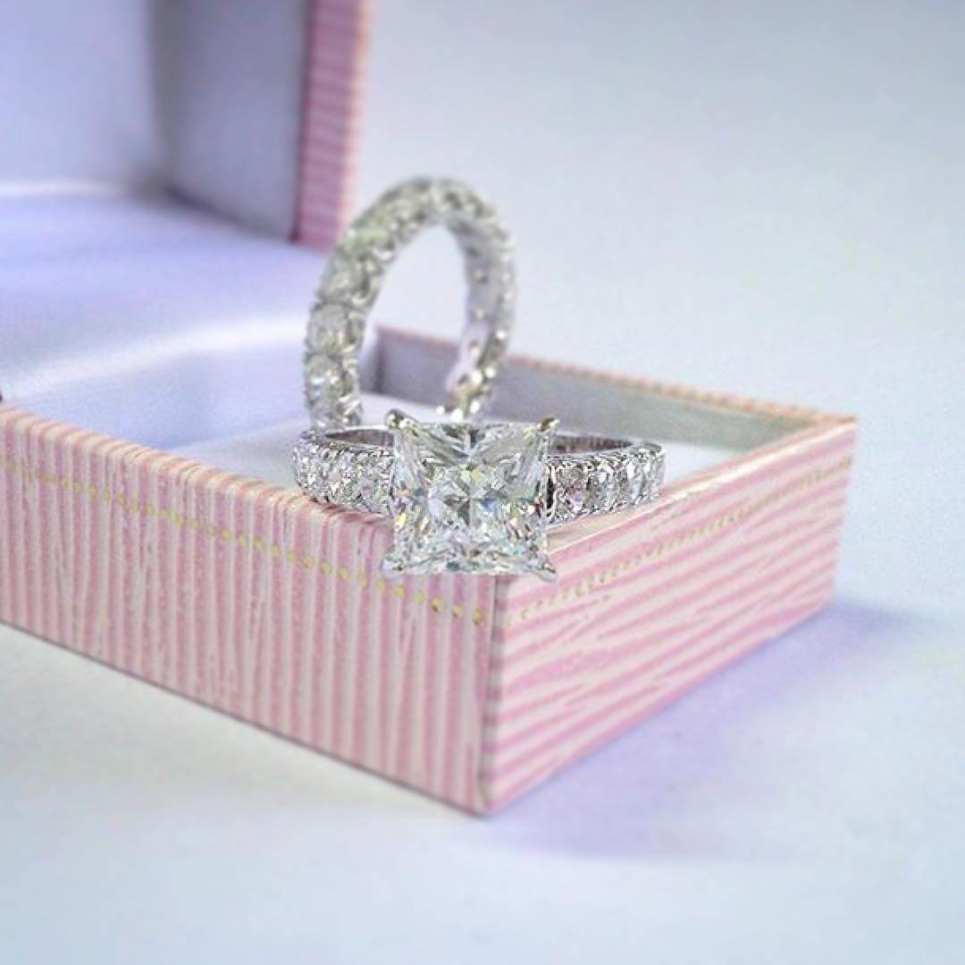 3 Carat Princess Cut Diamond Ring