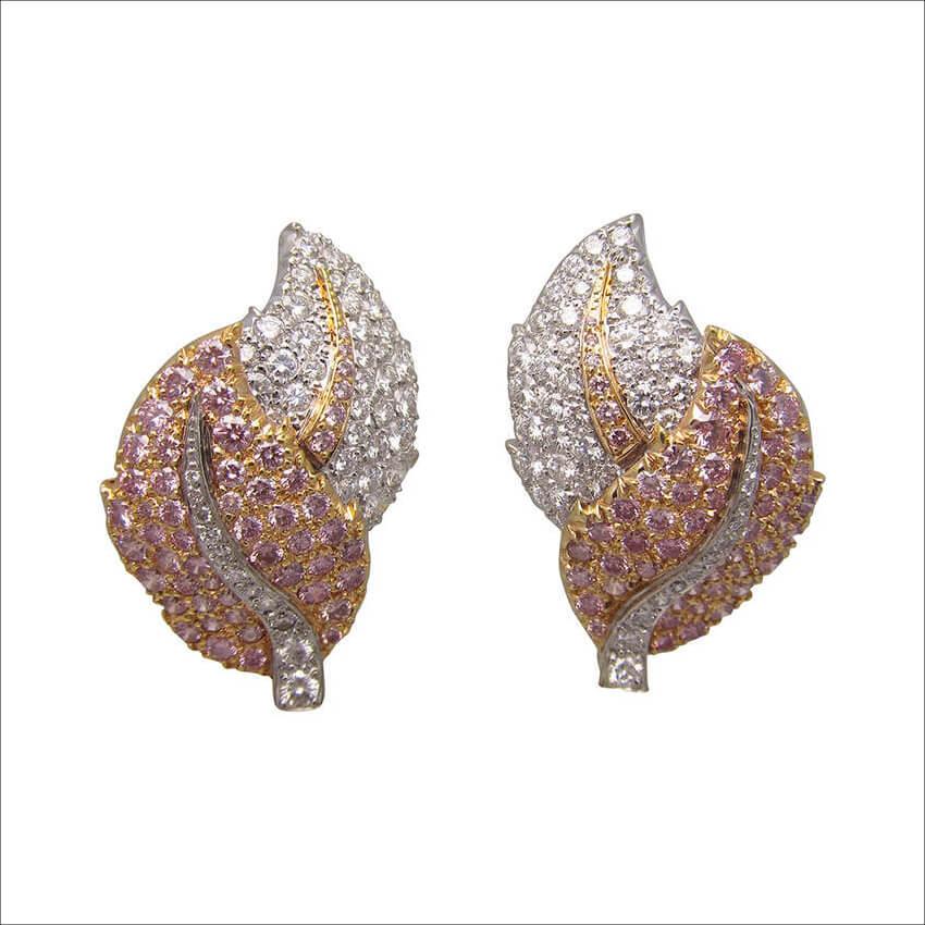 Graff Pink Diamond Gold Earrings (1)